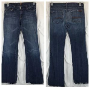 7 For All Mankind Stretch Distressed Flare Jeans